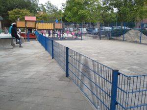 Dubbelstaafmat voetbal pleintje
